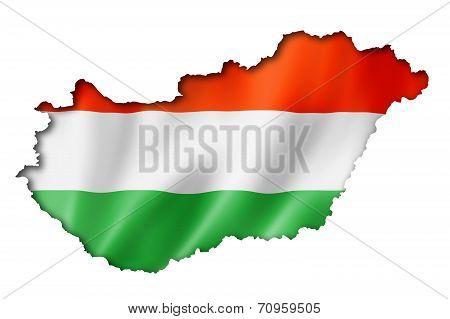 Hungarian Flag Map