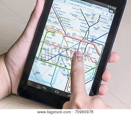 London Underground Diagram On The Tablet