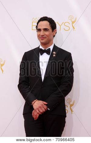 LOS ANGELES - AUG 25:  Zac Posen at the 2014 Primetime Emmy Awards - Arrivals at Nokia at LA Live on August 25, 2014 in Los Angeles, CA
