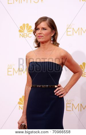vLOS ANGELES - AUG 25:  Kim Dickens at the 2014 Primetime Emmy Awards - Arrivals at Nokia at LA Live on August 25, 2014 in Los Angeles, CA