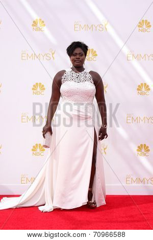 LOS ANGELES - AUG 25:  Danielle Brooks at the 2014 Primetime Emmy Awards - Arrivals at Nokia at LA Live on August 25, 2014 in Los Angeles, CA
