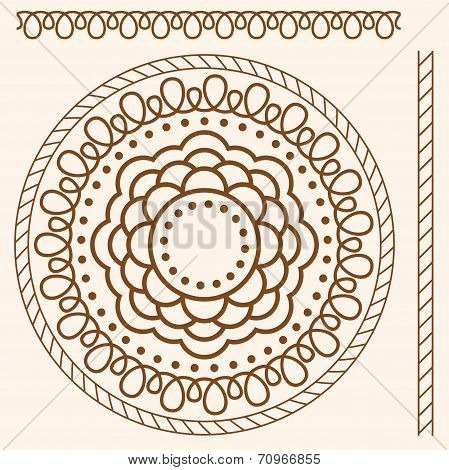 Illustration. Seamless Pattern Stylized As Henna