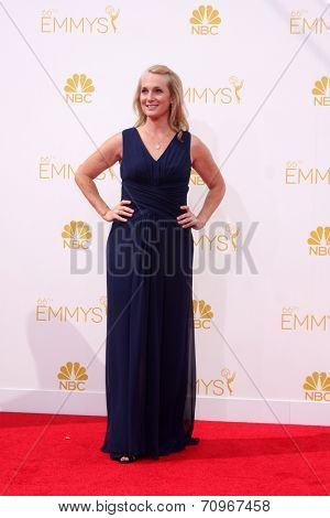 LOS ANGELES - AUG 25:  Piper Kerman at the 2014 Primetime Emmy Awards - Arrivals at Nokia at LA Live on August 25, 2014 in Los Angeles, CA