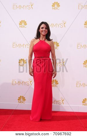 vLOS ANGELES - AUG 25:  Julia Louis-Dreyfus at the 2014 Primetime Emmy Awards - Arrivals at Nokia at LA Live on August 25, 2014 in Los Angeles, CA