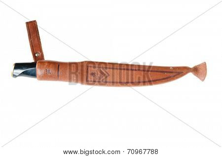 Hayward, CA - August 21, 2014: Swedish Normark brand filleting knife in it's sheath