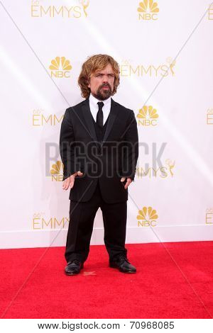 LOS ANGELES - AUG 25:  Peter Dinklage at the 2014 Primetime Emmy Awards - Arrivals at Nokia at LA Live on August 25, 2014 in Los Angeles, CA