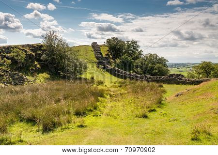 Hadrians Wall In A Valley