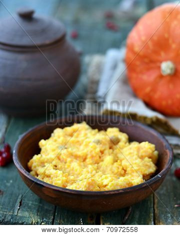 Pumpkin And Millet Kasha