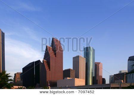 City Skyscraper Downtown Buildings Urban View