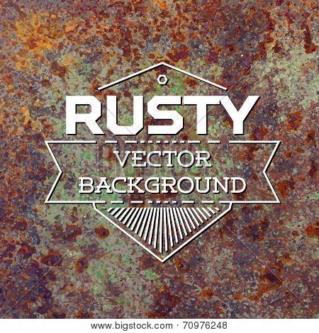 Rusty metal vector background