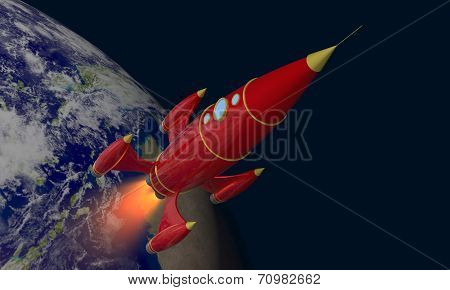 Rocket And Earth
