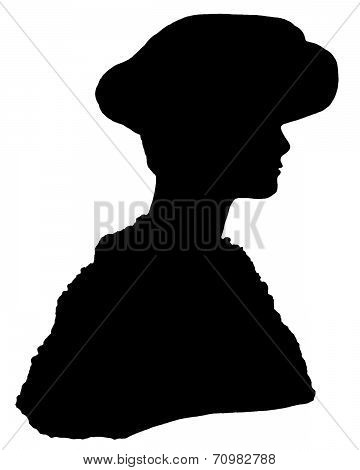 Fashion: Mannequin Silhouette of a Woman with Hat and Fur Coat