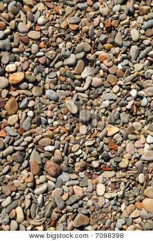 Background Texture Of Little Stones From Beach