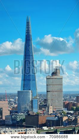 LONDON, UK - SEP 27: The Shard and urban architecture on September 27, 2013 in London, UK. the Shard is currently the tallest building in the European Union
