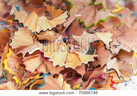 Texture shavings of colored pencils