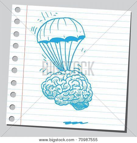 Brain parachuting