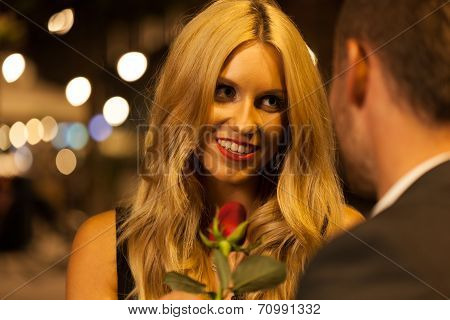 Beautiful Woman On A Date