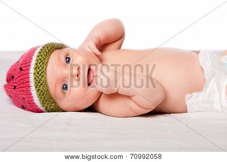 Happy Baby Infant With Hat