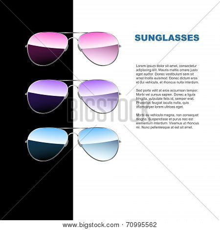 Aviator sunglasses. Vector