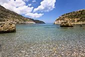 stock photo of greek-island  - Beach at Rhodes island - JPG