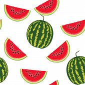 picture of watermelon slices  - Watermelon seamless pattern - JPG