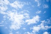 stock photo of blue white  - clouds clouds clouds sunny day sunshine blue skies white clouds - JPG