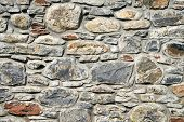 image of stonewalled  - An antique stonewall of an old castle - JPG