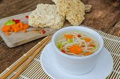 picture of noodles  - Chinese noodles soup with instant noodles  - JPG