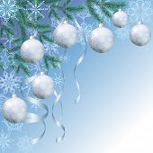 stock photo of blue spruce  - Background for Christmas holiday design - JPG