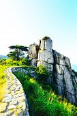 pic of long winding road  - Geumjeongsanseong Forest Fortress where there is a 18 - JPG