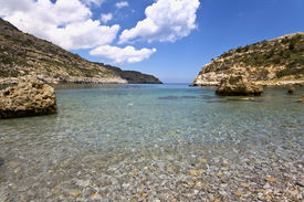 foto of greek-island  - Beach at Rhodes island - JPG