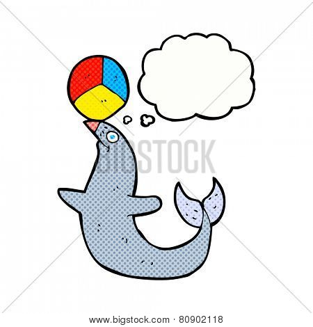 cartoon sea lion with ball