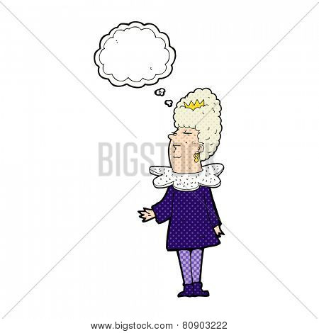 cartoon queen with thought bubble