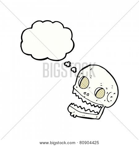 cartoon grinning skull