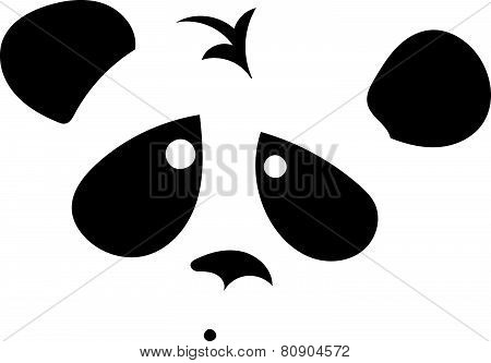 Shy panda