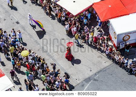 People Celebrate Christopher Street Day In Frankfurt