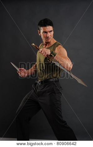 marine with sword