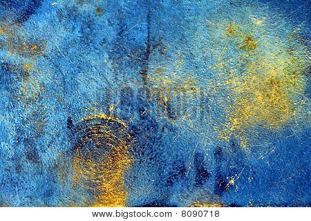 Grunge Oxidized Steel Plate Background