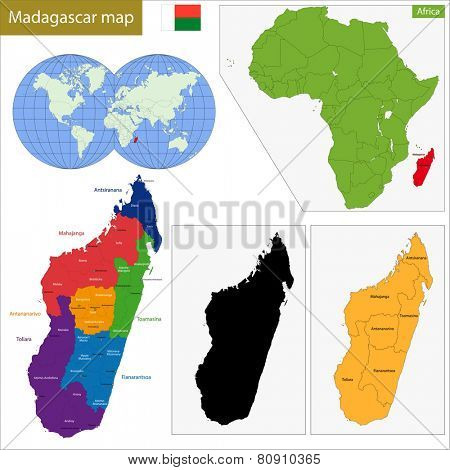 Administrative division of the Republic of Madagascar