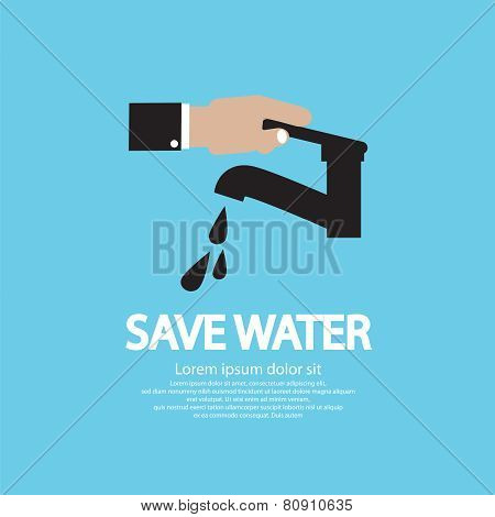 Water Conservation Illustration Conceptual Vector.