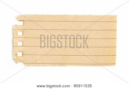 Recycling Lined Paper Scrap Isolated On White