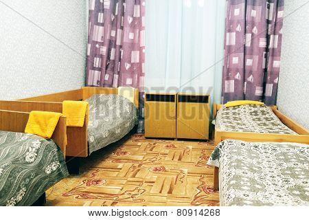 four local motel room