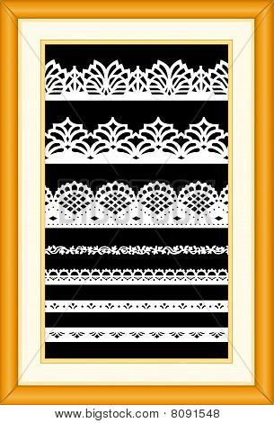 Lace Sampler in Oak Frame
