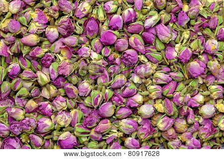 Dry roses buds