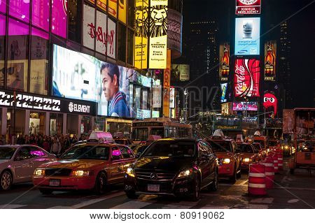 Night In Times Square