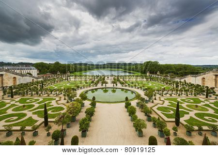 Beautiful Garden In A Famous Palace Versailles, France