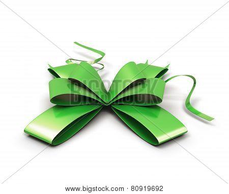 Green Festive Bow