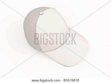White Baseball Cap Template.