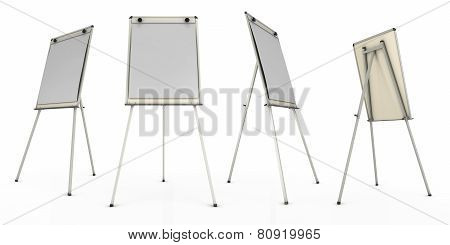 Advertising Stand Or Easel Views From Different Angles.