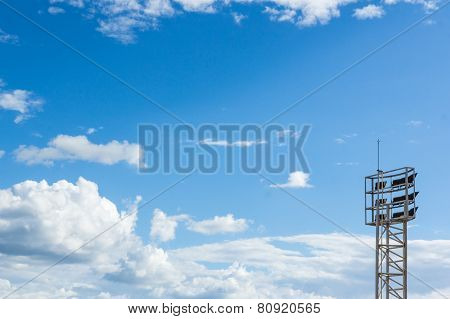 Sportlight  Mast On Blue Sky